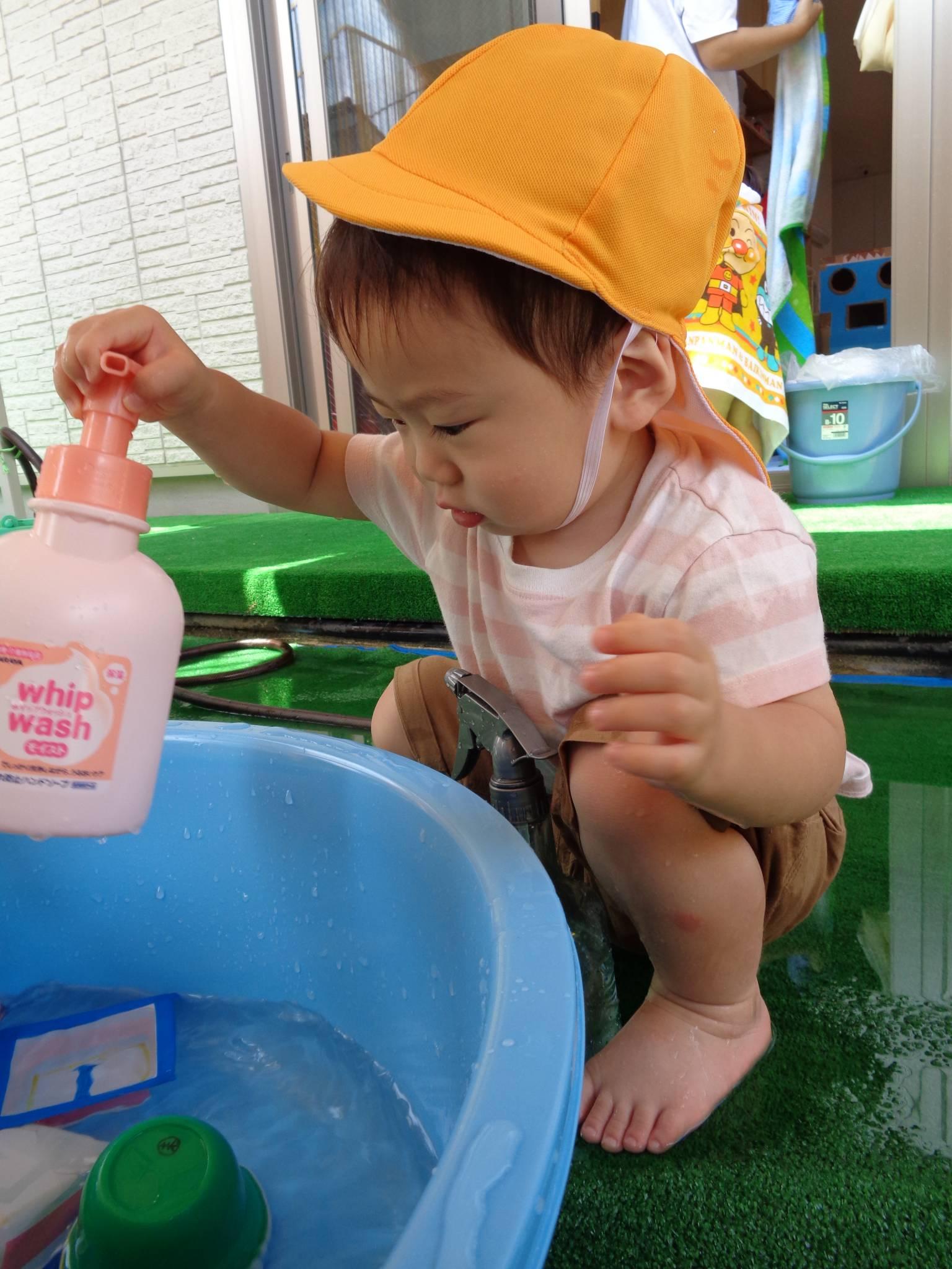 りすぐみ★水遊び