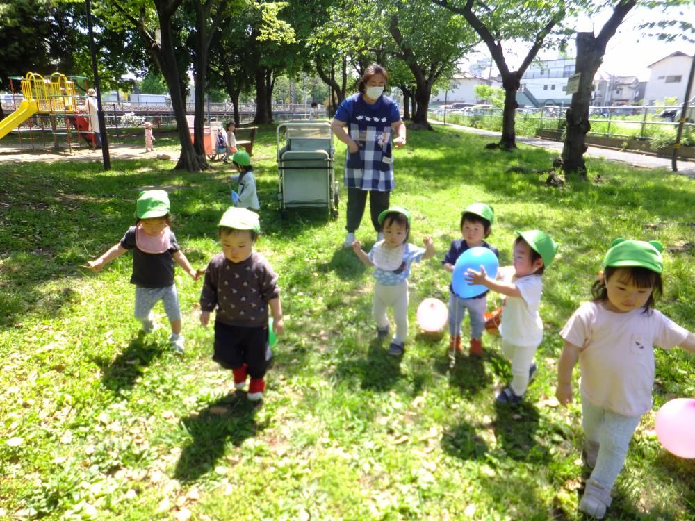 たんぽぽ組🌼公園で風船遊び!